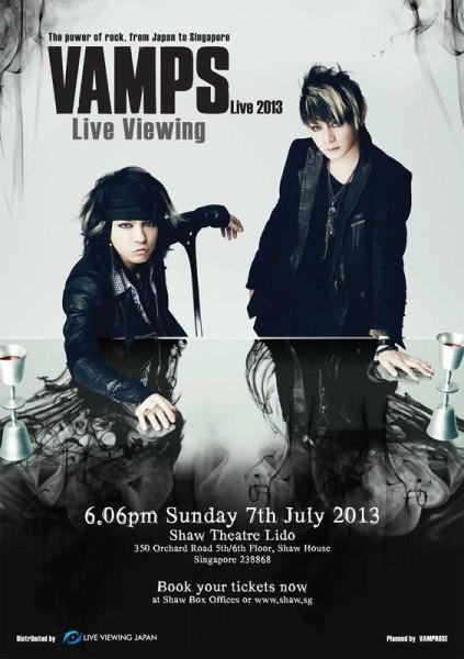 VAMPS Live 2013 Tokyo Live Viewing Japan