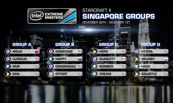 Intel Extreme Masters Starcraft 2 Singapore Groups