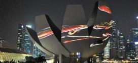 Naoko Tosa Sound of Ikebana Four Seasons Singapore ArtScience Museum