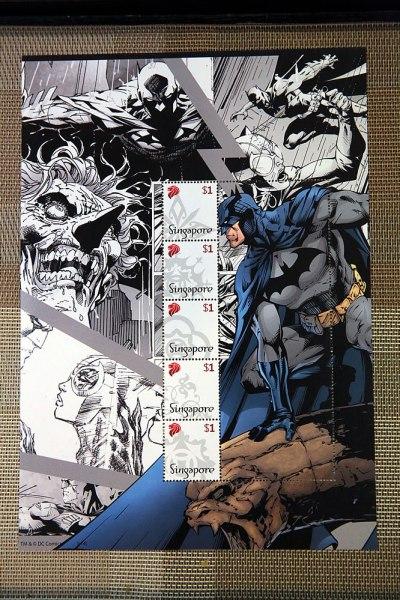 SingPost DC Comics Justice League & Batman 75th Anniversary MyStamp Collection Batman Stamps