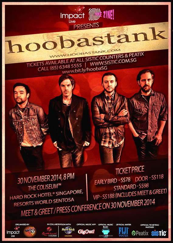 Hoobastank live in Singapore 2014 Poster Web