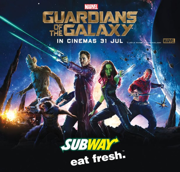 SUBWAY Singapore Marvel Guardians of the Galaxy Brand Image