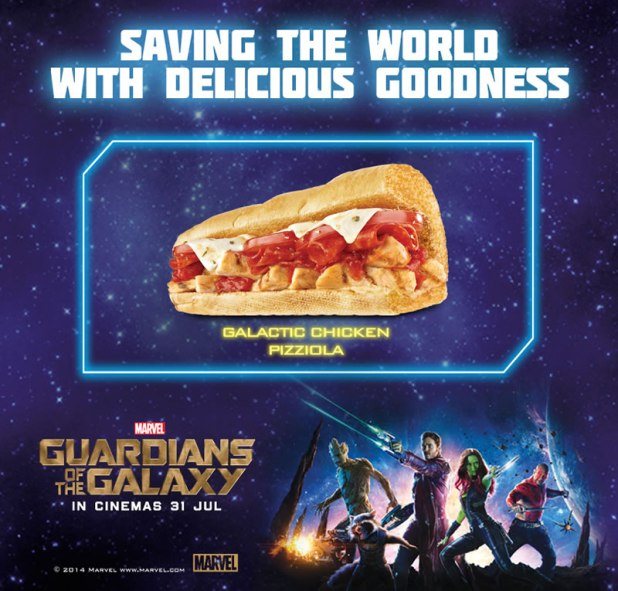 SUBWAY Singapore Marvel Guardians of the Galaxy Galactic Chicken Pizziola