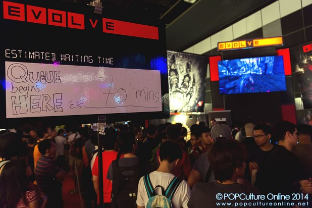 GameStart 2014 2K Games Booth Evolve Queue Wait Time