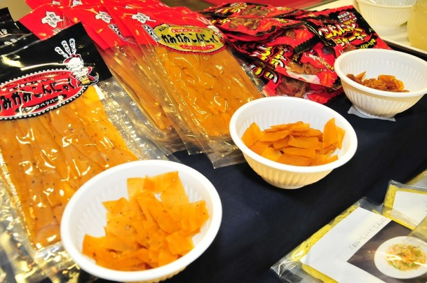 Oishii Japan 2014 - Fibre Jerky, a healthy snack made of konnyaku (jelly-like food), which is high in fibre and low in calories