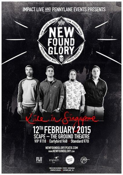New Found Glory Live In Singapore 2015 Poster