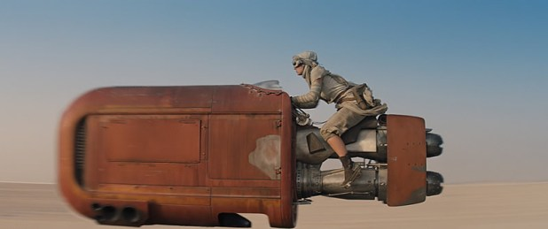 Star Wars The Force Awakens Tatooine Daisy Ridley Landspeeder