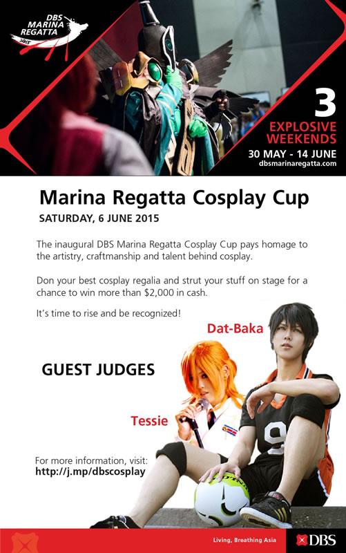 DBS Marina Regatta Cosplay Cup Poster