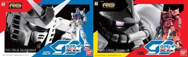 Gundam Docks Singapore RG RX-78-2 GUNDAM RG MS-06S ZAKUⅡVer Gundam Docks