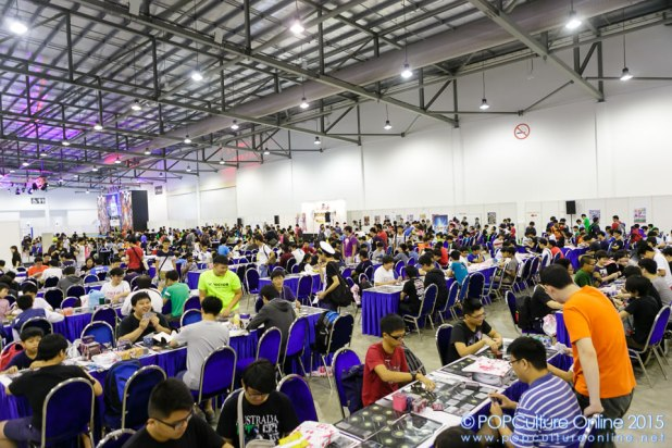 CharaExpo 2015 card game area 2