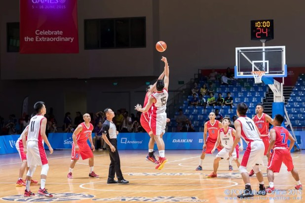 SEA Games 2015 Basketball Men Preliminary Round Group B Game 9 Singapore Cambodia OCBC Arena Hall 1