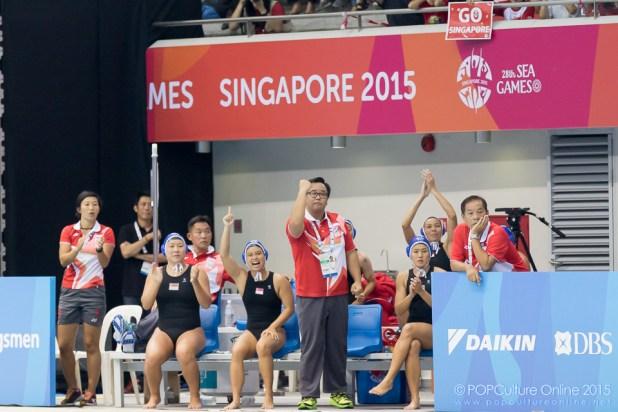 SEA Games 2015 Women Water Polo Final Thailand Singapore OCBC Aquatic Centre (34)