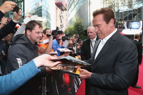 BERLIN, GERMANY - JUNE 21:  Actor Arnold Schwarzenegger attends the European Premiere of 'Terminator Genisys' at the CineStar Sony Center on June 21, 2015 in Berlin, Germany.  (Photo by Gisela Schober/Getty Images for Paramount Pictures International) *** Local Caption *** Arnold Schwarzenegger