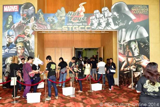 STGCC 2014 Hot Toys Entrance Marina Bay Sands Expo