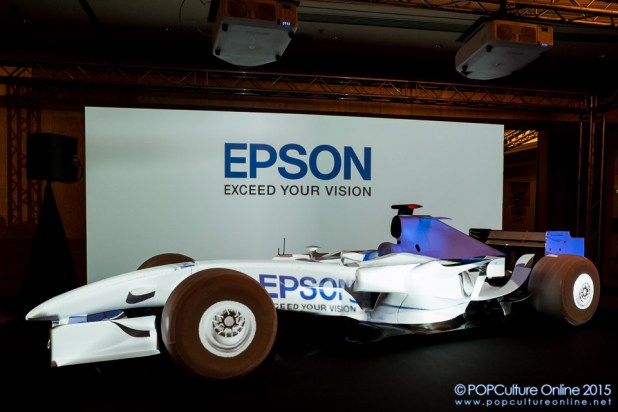 Epson EB-Z Series Projectors Projection Mapping Display Formula One Car