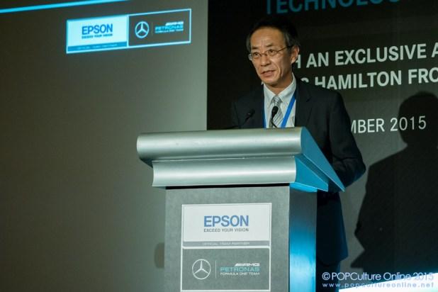 Mr Toshimitsu Tanaka Managing Director for Epson Singapore Pte Ltd
