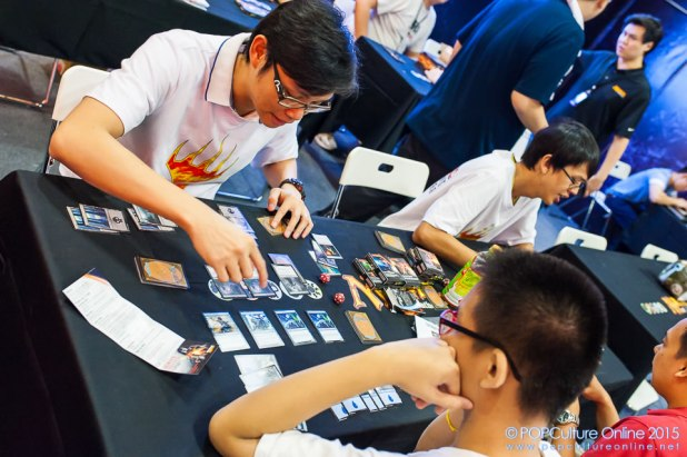 STGCC 2015 Magic the Gathering Booth Players