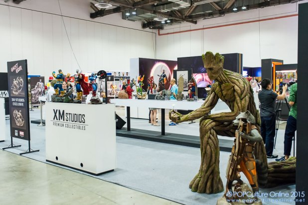 STGCC 2015 XM Studios Groot Rocket Booth