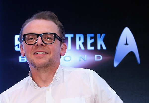 DUBAI, UNITED ARAB EMIRATES - SEPTEMBER 30: Writer and Actor Simon Pegg attends a press conference promoting 'Star Trek Beyond' at Burj Al Arab on September 30, 2015 in Dubai, United Arab Emirates. (Photo by Francois Nel/Getty Images for Paramount Pictures) *** Local Caption *** Simon Pegg