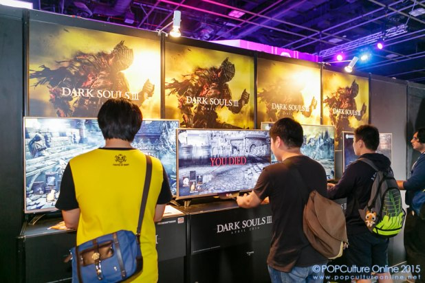 GameStart 2015 Bandai Namco Entertainment Asia Booth Dark Souls Consoles