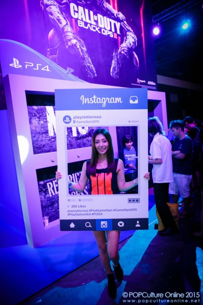 GameStart 2015 PlayStation Booth Experience Call of Dutry Black Ops 3 Booth Babes