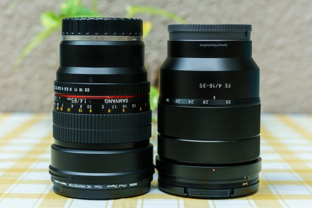 Samyang 85mm F1.4 AS IF UMC FE Mount vs Sony 16-35mm f2.8 ZA SSM II Vario-Sonnar Lens