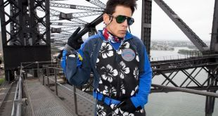 SYDNEY, AUSTRALIA - JANUARY 27:  (EDITORS NOTE: This image has been manipulated at the request of Paramount Pictures.) Derek Zoolander poses at a special stunt to promote the release of Paramount Pictures film 'Zoolander No. 2' at the Sydney Harbour Bridge on January 27, 2016 in Sydney, Australia.  (Photo by Caroline McCredie/Getty Images for Paramount Pictures)