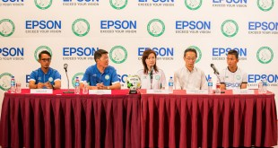 Epson Singapore Geylang International FC - Head Coach Hasrin Jailani, Mr Ben Teng, Ms Tin Pei Ling, Mr Toshimitsu Tanaka, GIFC Captain Isa Halim