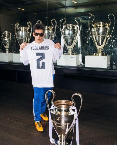 Derek Zoolander visits Real Madrid Stadium in Madrid, Spain