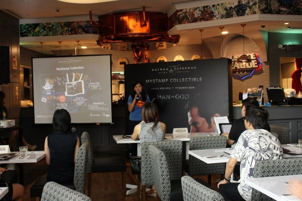 Ms Peggy Teo, Assistant Vice-President (Philatelic and Stamps), SingPost sharing more on the Batman v Superman - Dawn of Justice MyStamp Collection