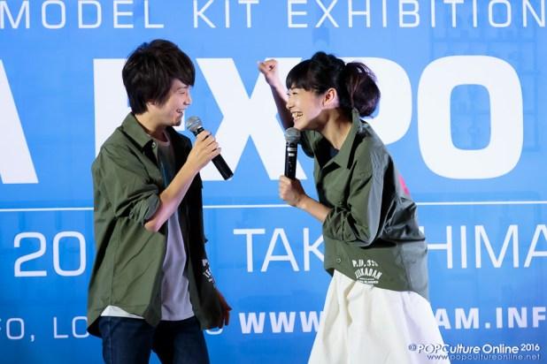 Gunpla Expo 2016 Stage Segment Kengo Kawanishi Yuka Terasaki