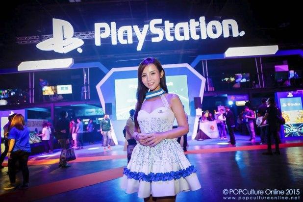 GameStart 2015 Sony Playstation Booth Babe