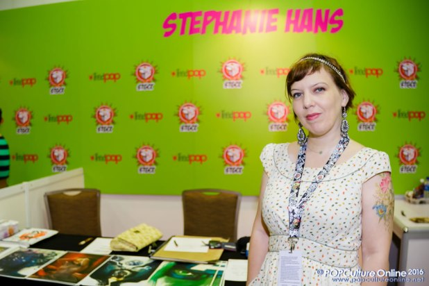 STGCC 2016 Interview Stephanie Hans booth