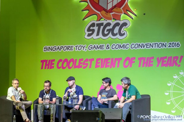 STGCC 2016 Stage Panel Phil Noto Nick SpencerTom Taylor Cheng Tju Lim Sonny Liew