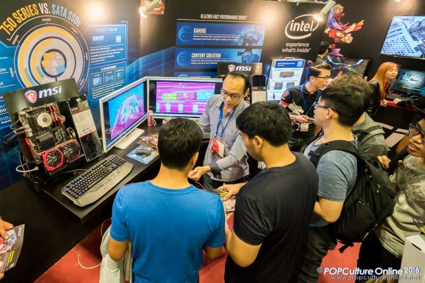 Anime Festival Asia AFASG 2016 MSI Intel Booth