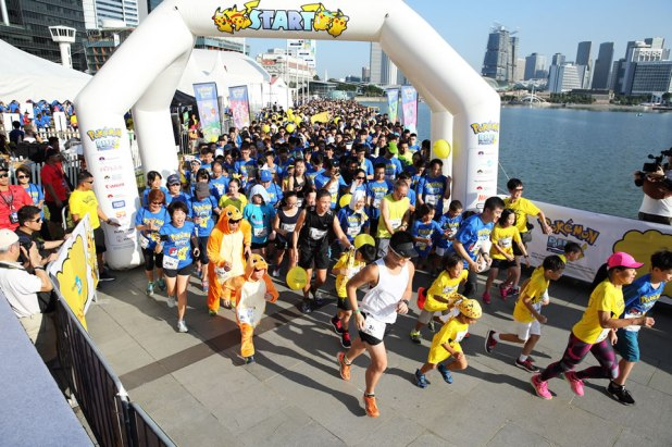 Pokémon Run Singapore 2017 Flag off of Pokemon Run Sg