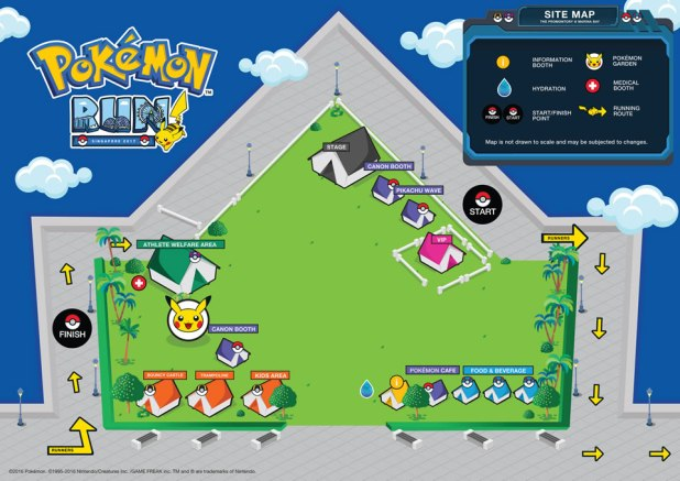 Pokemon Run Singapore 2017 Site Map