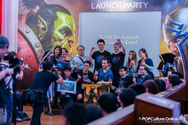 World of Warcraft Battle for Azeroth Pre-launch Party Singapore Lucky Draw