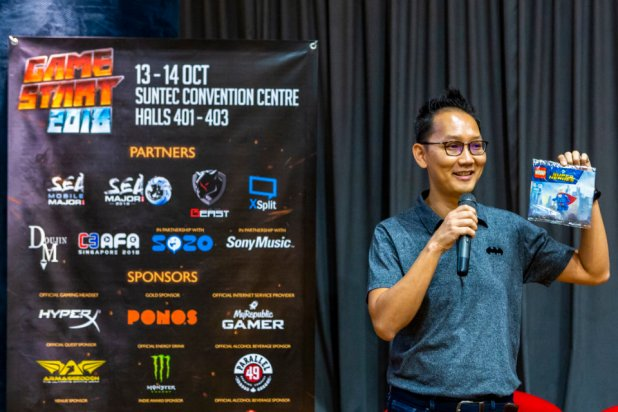 GSA18_PressCon- Alex Lui from Warner Bros. Interactive Entertainment sharing about the new LEGO DC Super-Villains game