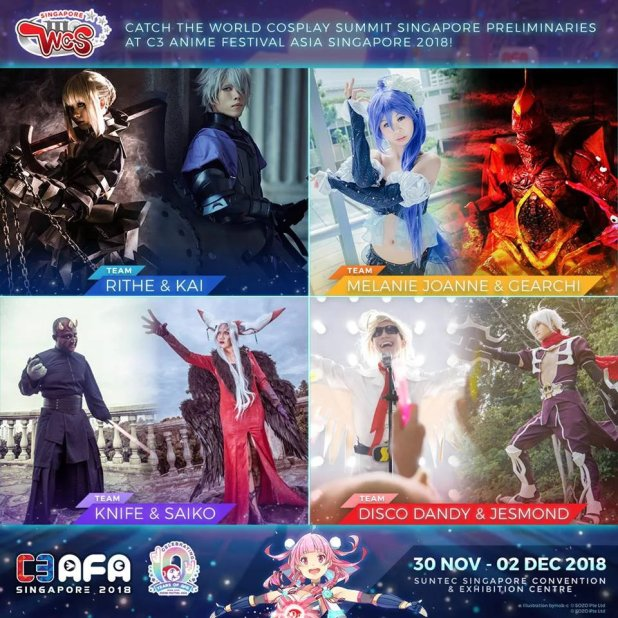 World Cosplay Summit 2019 Singapore Preliminaries Team Photos