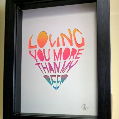 Loving you more than beer – multicolour