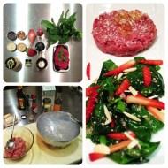 tartare manzo spinaci fragole