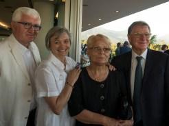 Antonio e Nadia Santini, Franca Checchi e Romano Franceschini