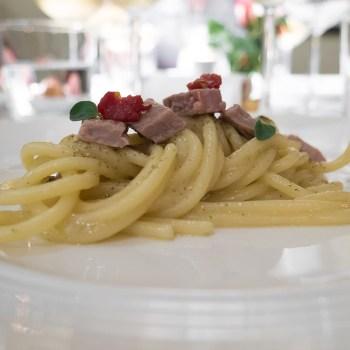 Nicola Portinari, spaghettoni tonno e cipolla senza cipolla