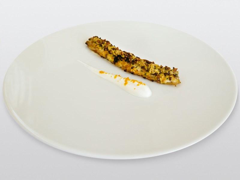Ulliassi - Ali di rombo con olive e tzatziki all'arancia