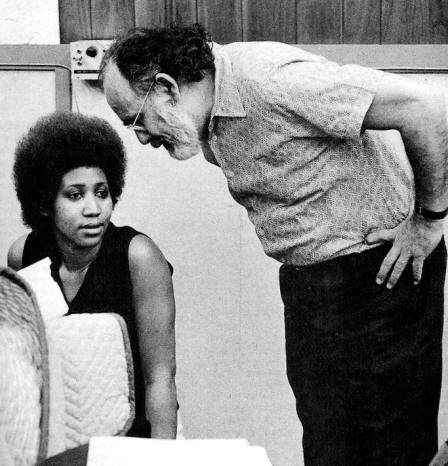 Jerry Wexler and Aretha Franklin, two co-conspirators in the making of some of the greatest soul music ever recorded while in Muscle Shoals, Alabama