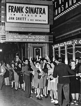 Frank Sinatra fans waiting on line, Pittsburgh, PA, December 11th, 1943.