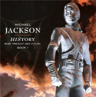 Cover of Michael Jackson's 'HIStory' CD using a photo of one of  the nine Jackson statues that were built by Sony Music for the album's   promotion in June 1995.