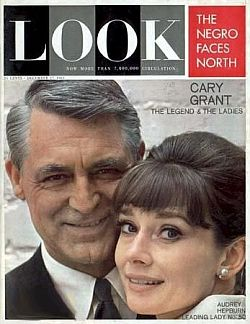 Look magazine at about the time Rockwell singed on, December 1963, then featuring Hollywood's Cary Grant & Audrey Hepburn.