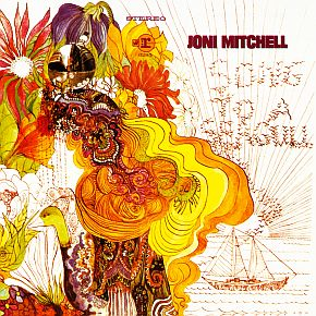 "Joni Mitchell's first album, ""Song to A Seagull,"" which includes her art work on the cover, a practice that would continue with subsequent albums."